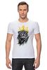 "Футболка Стрэйч (Мужская) ""Лев в короне"" - king, корона, лев, lion, царь зверей, crown"
