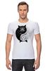 """Футболка Стрэйч """"Угрюмый Кот Инь-Янь"""" - cat, инь и ян, grumpy cat, угрюмый кот"""