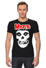 "Футболка Стрэйч (Мужская) ""Misfits "" - skull, череп, punk rock, misfits, панк"