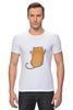 """Футболка Стрэйч (Мужская) """"Рыжий кот"""" - кот, cat, рыжий кот, смешной кот"""