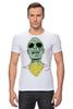 "Футболка Стрэйч (Мужская) ""Психоделика"" - zombie, зомби, green, shades"