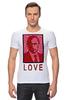 "Футболка Стрэйч ""ValenPutin"" - сердце, путин, розы, президент, putin"