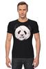 """Футболка Стрэйч """"Панда Пират"""" - bear, медведь, панда, panda, пират"""