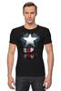 "Футболка Стрэйч ""Капитан Америка"" - супергерои, marvel, капитан америка, captain america"