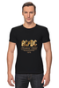 """Футболка Стрэйч """"AC/DC"""" - music, rock, золото, хард-рок, асдс"""