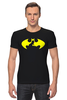 "Футболка Стрэйч (Мужская) ""Бэтмен (Batman)"" - batman, бэтмен, superhero"