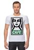 "Футболка Стрэйч (Мужская) ""Starbucks (Obey)"" - кофе, obey, starbucks, старбакс, cafe"