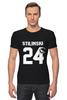"""Футболка Стрэйч (Мужская) """"Stilinski 24"""" - волчонок, teen wolf, stilinski, стилински"""