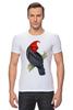 """Футболка Стрэйч (Мужская) """"Попугайчик"""" - арт, дизайн, птицы, природа, попугай"""