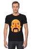 "Футболка Стрэйч (Мужская) ""Борода IV"" - борода, усы, mustache"