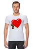 """Футболка Стрэйч (Мужская) """"bear heart """" - heart, bear, bear heart"""