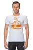 "Футболка Стрэйч ""Трамвай "" - прикол, арт, orange, city, tram"