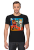 """Футболка Стрэйч (Мужская) """"Basquiat/Жан-Мишель Баския"""" - граффити, корона, snoopy, basquiat, баския"""