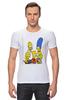 """Футболка Стрэйч (Мужская) """"Симпсоны"""" - симпсоны, the simpsons"""