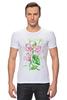 """Футболка Стрэйч (Мужская) """"Цветы душистый горошек"""" - арт, цветы, весна, акварель, spring, горошек"""