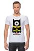 """Футболка Стрэйч """"Minion Batman                        """" - смешные, приколы, мультики, comics, стиль, batman, супергерои, dc, миньоны, superhero"""