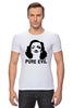 """Футболка Стрэйч """"Pure Evil"""" - граффити, дизайн, винтаж, марлен дитрих, pure evil"""