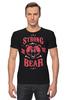 """Футболка Стрэйч (Мужская) """"Медведь"""" - арт, bear, медведь, иллюстрация, оскал"""