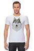 """Футболка Стрэйч """"хаски"""" - собака, иллюстрация, хаски, акварель, husky"""