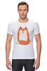 """Футболка Стрэйч (Мужская) """"Лисичка (Fox)"""" - fox, лиса, лисичка"""