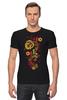 """Футболка Стрэйч """"Хохлома"""" - цветы, узор, орнамент, хохлома"""