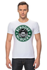 "Футболка Стрэйч (Мужская) ""Scrooge McBucks (Starbucks)"" - пародия, coffee, старбакс, скрудж макдак"