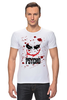 """Футболка Стрэйч """"Джокер (Psycho)"""" - joker, кровь, batman, джокер, псих"""