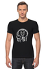 "Футболка Стрэйч ""Skull WOT"" - прикол, games, игры, игра, game, brain, логотип, world of tanks, танки, wot"