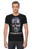 """Футболка Стрэйч (Мужская) """"Terminator"""" - кино, arnold schwarzenegger, терминатор, terminator, арнольд шварценеггер"""