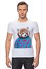 """Футболка Стрэйч (Мужская) """"Красная панда"""" - арт, red, девушке, panda, animal, красная панда, dressed"""