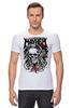 "Футболка Стрэйч ""Skull Art"" - skull, череп, mayhem, фестиваль, festival"