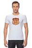 """Футболка Стрэйч (Мужская) """"Route 66"""" - арт, авторские майки, америка, usa, дорога, road, сша, путешествие, los angeles, california"""