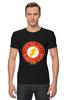 "Футболка Стрэйч (Мужская) ""The Flash"" - flash, супергерои, молния, dc комиксы, флэш"