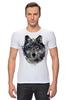 "Футболка Стрэйч (Мужская) ""Серый Волк"" - animal, волк, wolf"