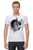"Футболка Стрэйч (Мужская) ""Owl Gray"" - взгляд, сова, филин, owl"