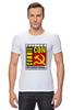 """Футболка Стрэйч (Мужская) """"Moscow Commie Con"""" - ссср, пародия, коммунизм, серп и молот, comic com"""