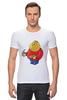 "Футболка Стрэйч ""Fat Legoman"" - lego, обжорство, лего"