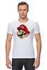 "Футболка Стрэйч (Мужская) ""Марио (Mario)"" - nintendo, mario, mario bros, братья марио"