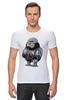 """Футболка Стрэйч (Мужская) """"Fat Robocop"""" - обжорство, робокоп, robocop"""