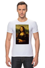 "Футболка Стрэйч (Мужская) ""Мона Лиза (Mona Lisa)"" - мона лиза, джоконда, mona lisa, полигоны, polygons"