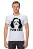 """Футболка Стрэйч (Мужская) """"Pure Evil"""" - граффити, дизайн, винтаж, марлен дитрих, pure evil"""