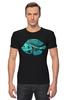 """Футболка Стрэйч """"Скелетон"""" - skeleton, скелет, рыба, fish, neon, скелетон"""