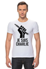 "Футболка Стрэйч (Мужская) ""Je Suis Charlie, Я Шарли"" - charlie, шарли, je suis charlie, hebdo, сатирический"