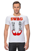 "Футболка Стрэйч ""Swag Art"" - музыка, swag, обувь, блюз, blues"