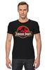 """Футболка Стрэйч (Мужская) """"Jurassic Park / Парк Юрского Периода"""" - динозавры, афиша, парк юрского периода, jurassic park, kinoart"""