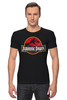 "Футболка Стрэйч ""Jurassic Park / Парк Юрского Периода"" - динозавры, афиша, парк юрского периода, jurassic park, kinoart"