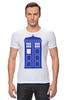 "Футболка Стрэйч ""Tardis (Тардис)"" - сериал, doctor who, доктор кто, машина времени, телефонная будка, time machine, phone box"