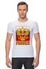 """Футболка Стрэйч """"Россия герб"""" - патриот, флаг, родина, триколор, горжусь"""