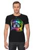 """Футболка Стрэйч (Мужская) """"Собака Космонавт"""" - космос, собака, абстракция, галактика, космонавт"""