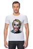 "Футболка Стрэйч (Мужская) ""joker style"" - joker, batman, джокер, бэтмен, dark knight, тёмный рыцарь"
